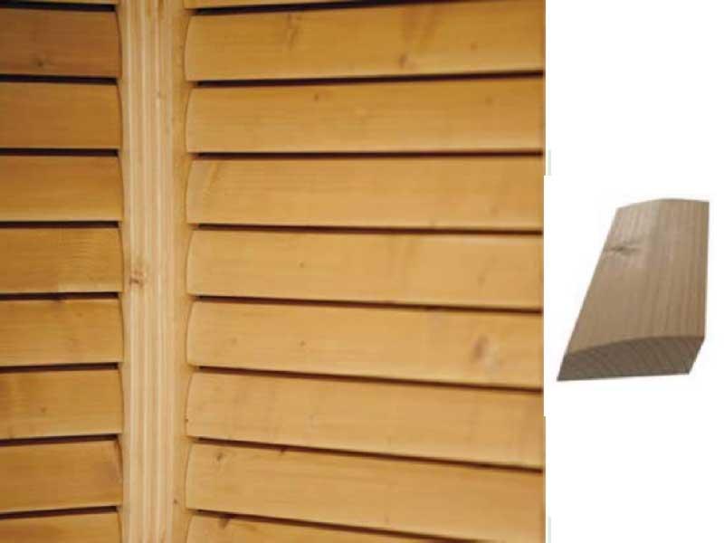 Sichtschutzwand-Rhombus-Wellenprofil